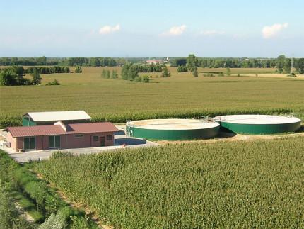 Una centrale biogas
