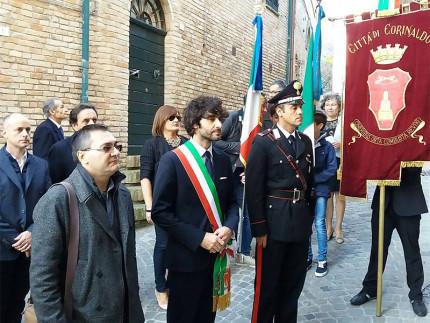 La cerimonia a Corinaldo per la ricorrenza della giornata dell'Unità Nazionale e delle Forze Armate