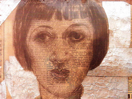 Il manifesto per la mostra su Nori de' Nobili a Milano (particolare)