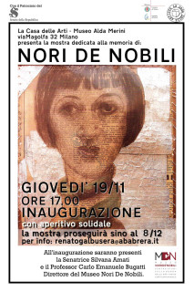 Il manifesto per la mostra su Nori de' Nobili a Milano