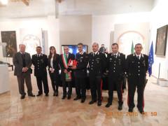 La consegna del premio San Giovannino 2015 al comando Carabinieri di Ostra Vetere