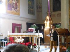 L'esibizione del coro della Schola Cantorum a Ostra Vetere