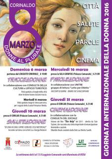 La locandina per l'edizione 2016 a Corinaldo della Festa della Donna