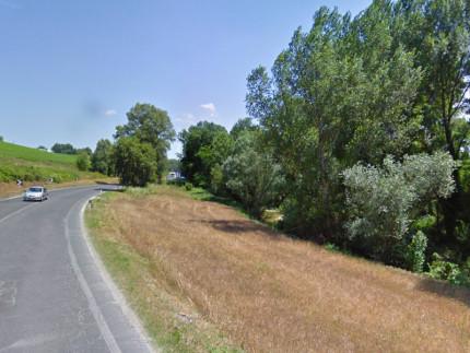 Il tratto di strada provinciale 12 Corinaldese tra Passo Ripe e Trecastelli, che prende il nome di via Matteotti. Foto di repertorio