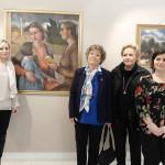 Dacia Maraini in visita al museo De' Nobili di Trecastelli: da sx Fabri, Maraini, Amati e Marinelli