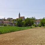 La frazione di Brugnetto del comune di Trecastelli, vista dalla provinciale Corinaldese