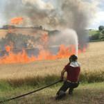 Incendio a Montale di Arcevia
