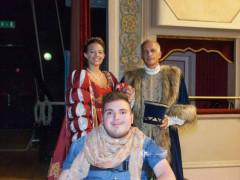 Filippo Arcangeli e gli abiti d'epoca per il corteggio della contesa del Pozzo della Polenta