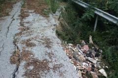 Le strade a Trecastelli: chiusure per frane in campagna