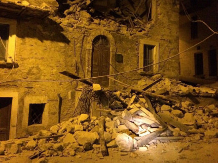 Crolli dopo il terremoto del 24 agosto 2016
