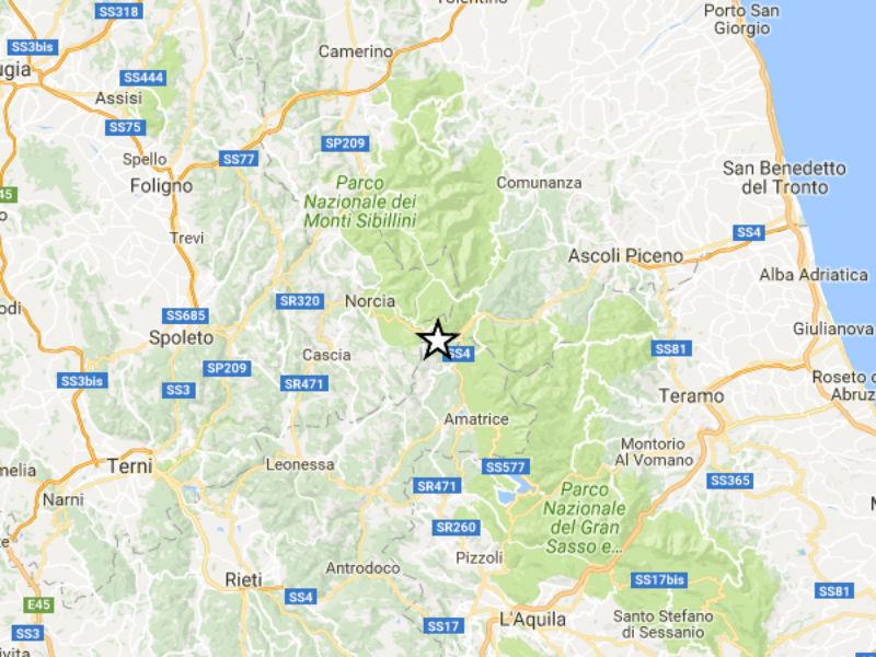 Terremoto del 24 agosto 2016 tra Marche, Lazio e Umbria