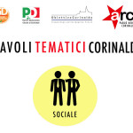 Locandina per i 'tavoli tematici' promossi dal PD di Corinaldo