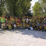 Ripulito il Parco dei Colori a Trecastelli grazie ai giovani ambientalisti e a Legambiente