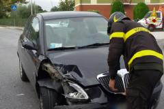 L'incidente stradale sulla sp. Arceviese al Vallone di Senigallia