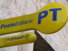 Ufficio postale di Poste Italiane, bancomat, postamat