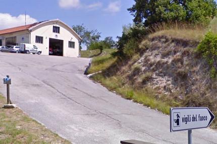 La sede del distaccamento dei Vigili del fuoco di Arcevia