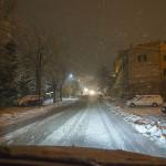 La neve lungo le strade di Serra de' Conti. Foto di Carlo Ceresani