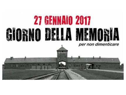 Locandina a Castelleone di Suasa per il Giorno della Memoria, il 27 gennaio 2017