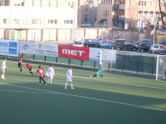 Gorini segna l'1-0 in Vigor Senigallia-Vismara