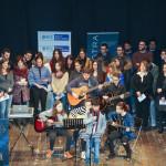 Il coro dell'associazione Musikè all'icnontro della BCC di Ostra e Morro d'Alba