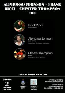 Alphonso Johnson, Frank Ricci & Chester Thompson Trio al Teatro La Vittoria di Ostra