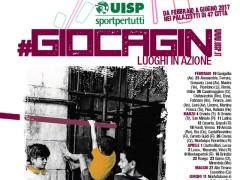 La locandina del Giocagin, l'evento promosso dalla Uisp in tutta Italia