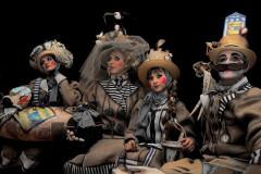 """Il gruppo mascherato vincitore del carnevale di Venezia 2016: """"I bagnanti di Senigallia"""", la creazione dei fratelli Anna e Lorenzo Marconi"""