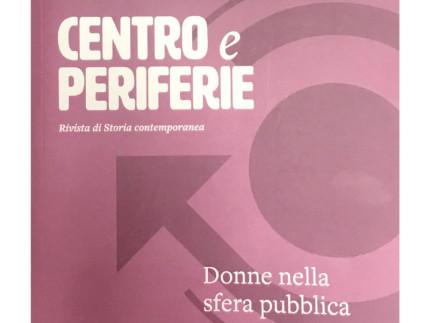 """La copertina del volume di """"Centro e periferie"""" dedicato alle """"Donne nella sfera pubblica"""""""