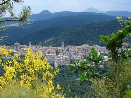 Vista panoramica di Arcevia dal monte Sant'Angelo. Immagine tratta dal sito comunale