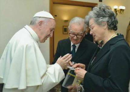 Il Papa ha ricevuto Clara e Dino Berti di Corinaldo