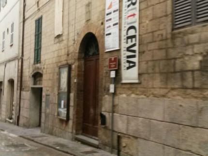Il teatro Misa in corso Mazzini, ad Arcevia