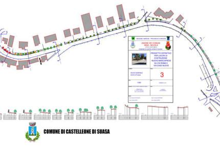 Il progetto a Castelleone di Suasa per il marciapiedi lungo via Roma e via Case Nuove