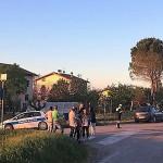 Il luogo dell'incidente avvenuto a Corinaldo