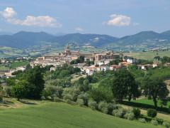 Il panorama di Corinaldo nella foto di Tonino Paolini