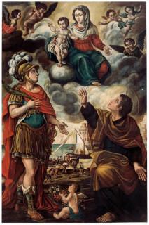 La tela dei fiacchini del pittore di Ostra Vetere Luigi Conti, conservata presso la chiesa della Croce di Senigallia