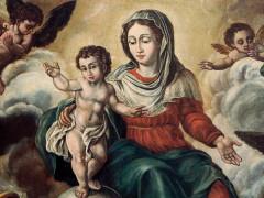 La tela dei fiacchini del pittore di Ostra Vetere Luigi Conti, conservata presso la chiesa della Croce di Senigallia (particolare)