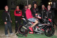 Il team 2017 del pilota senigalliese Simone Saltarelli