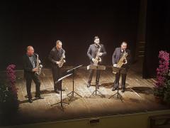 """Il concerto del """"Federico Mondelci i Sax Quartet"""" al teatro La Vittoria di Ostra"""