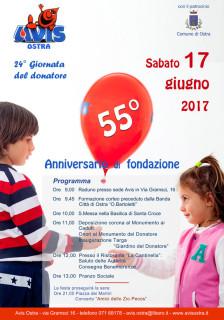 55esimo anniversario Avis Ostra - locandina
