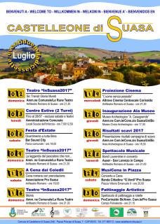 La locandina con gli eventi di luglio a Castelleone di Suasa