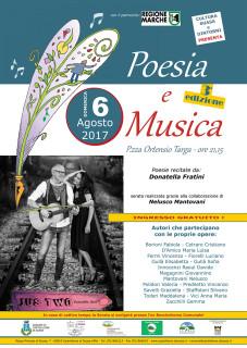 Poesia e Musica - Terza edizione - 6 agosto 2017 a Castelleone di Suasa - locandina
