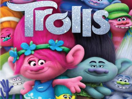 Locandina del cartone animato Trolls.