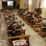 Il pubblico della Chiesa di Santa Maria de' Abbatissis a Serra de' Conti per il festival organistico internazionale