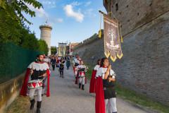 Il corteo storico alla Festa Castellana 2017 a Scapezzano di Senigallia