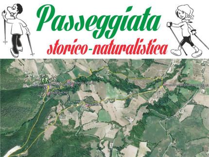 La locandina della passeggiata storico-naturalistica ad Arcevia
