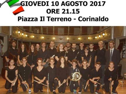 """Il corpo bandistico """"Città di Corinaldo"""" diretto dal Maestro Giovanni Frulla"""