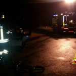Auto in fiamme a Barbara