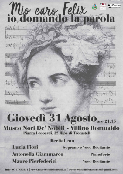 un recital dedicato alla pianista e compositrice tedesca Fanny Mendelssohn