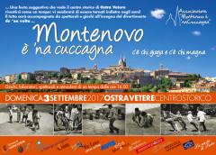 """La locandina dell'iniziativa """"Montenovo è 'na cuccagna"""""""