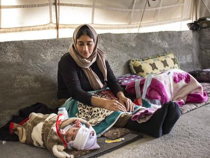 Nel campo profughi di Khanke è nata una bambina